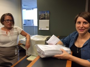 Julie dropping off the latest batch of petitions at City Hall